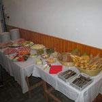 Das Buffet für die Gäste.