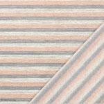 Streifen rosa - grau - creme
