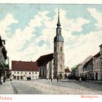 Lübbenau-Marktplatz und Kirche Kopie