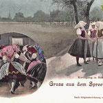 1898-Burg-Kirchgang-und-Tanz-in-Spreewald-Trachten