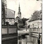 1961 - Lübbenau Mühleneck mit Kirchturm