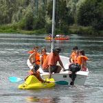 Lago di San Cipriano -  la canoa