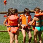 Lago di San Cipriano -  pronti per la canoa
