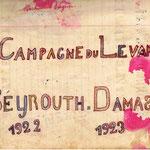 page de garde d'un cahier de chansons du front d'Orient, là où la guerre ne s'est finie qu'après…