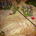 Die Berserker und Bondis ziehen in Richtung byzantinische Lager.