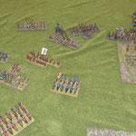 Feuerkampf an der rechten Flanke