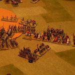 Die Ritter werden sich noch länger gegen die Spahis halten können, die Katalanen fliehen weiter.