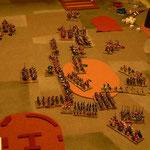 Byzantinische Kavallerie gewinnt gegen die Timarioten, die Bogenschützen versuchen die Janitscharen zu überflügeln.