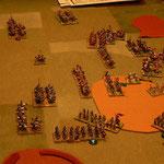 Die Janitschen im Gelände erleiden Verluste, die ausserhalb bieten Ihre Flanke der Kavallerie.
