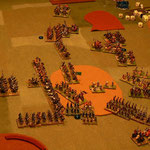 Psiloi verlieren gegen die Janitscharen.