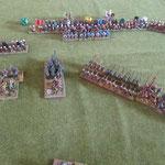 Die Normannen wollen nicht mehr sammeln, ein Keil ist schon in den Speeren aufgerieben.