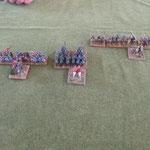 Die Armee der 3 Geschwindigkeiten, Ritter sind schneller als Kataphraken und die sind schneller als die Infantrie.
