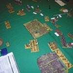 Lage an der rechten Flanke am Ende der Schlacht