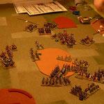 Die Ritter kämpfen gegen die Timarioten, die Janitscharen ausserhalb des Geländes wurden geschlagen, die letzten verbleibenden haben attackiert und haben das Gelände leicht verlassen.