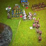 Nach dem zweiten Clash sind die Normannen im Rückwärtsgang, die Scholae flieht auch, der OB ist da zum sammeln!