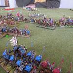 Die schweren Reiter decken die Flanke der Waräger, diese schaffen aber keine Tests ...