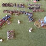 Die Reiter sollen sich um die berittenen Bögen auf der linken Flanke kümmern, die Klibanophoroi das Zentrum unterstützen.