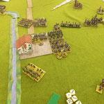 Feuerkamp auf der linken Flanke