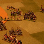 Timariorten rücken gegen Catalanen vor.