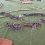 Die Waräger haben gleich einen Achterblock erreicht, dafür sind die deutschen auch gleich an den byzantinischen Infanteristen.