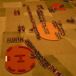 Zweite Runde: die Ritter überflügeln die Osmanischen Linien, die Janitscharen erreichen das Feld.