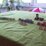 die Infanterie vor dem eigenen Lager