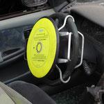 Sicherung eines nicht ausgelöstem Fahrerairbag.