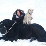 Nicole, Tjibbe und Balou trainieren auch im Winter schon für die Auftritte im heurigen Sommer!