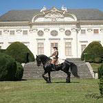 Ingrid und Xantos in barocker Aufmachung auf Schloß Halbthurn - sehr schön!