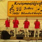 13. Mai 2012 : Die Schoppeamlsen beim Kreismusikfest in Stadelhofen