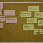 Einige Ergebnisse des Workshops als Ansatzpunkte für weitere Gespräche und Veranstaltungen.
