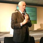 """Prof. Dr. Albrecht Bemmann (TU Dresden - Professur für Forst- und Holzwirtschaft Osteuropas) berichtet über Schwierigkeiten bei der Erreichung der Ziele im Verbundprojekt """"AgroForNet""""."""