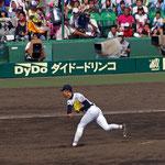 甲子園決勝戦 8回裏  晶  初登板。