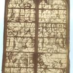 Vitrail sur la vie de la Vierge dans l'église Saint-Gervais -Saint-Protais de Gisors
