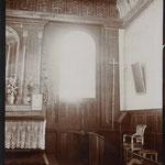 Autel avec haut-relief en bois, vie du Christ, église du  Plessis-Grohan (Eure), photographie de Marcel  Baudot