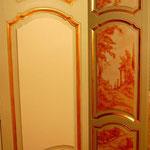 facade d'armoire peinte