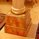 creation pied de colonne et faux marbre