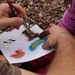 Der Bad Hersfelder Tättowierer Dave Rage verpasste den Kindern ein Airbrush-Tattoo