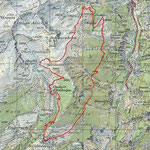 4 Alpen Wanderung Sommer - Karte
