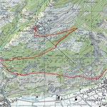 Gampel - Bratsch - Jeizinen Sommer + Winter - Karte