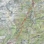Goppenstein - Jeizinen Wanderung Sommer - Karte