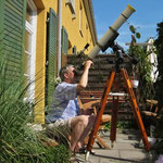 Sonnenfotografie mit Refraktor 80/900 mm, Canon EOS 300D, Canon IXUS 55