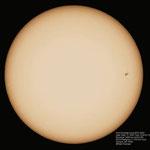 Sonne mit Sonnenfleck, Refraktor 80/900 mm, Canon EOS 300D