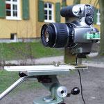 Nodalpunktadapter aus einem Winkeleisen für die Panoramafotografie