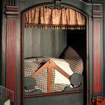 Schrankbett im Altonaer Museum, EOS 500D, Rikenon 1:1,4/55 mm
