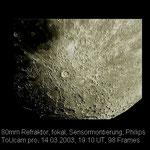 Mond mit Tycho und Clavius