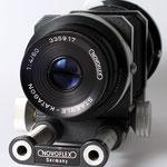 Makroobjektiv Staeble-Katagon 1:4/60 mm am Balgengerät
