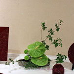 2017年鎌倉彫発表会の装飾 生花アレンジメントその3