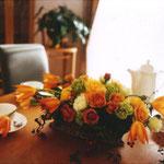 雑誌の撮影で制作した生花アレンジメント その1