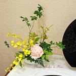 2017年鎌倉彫発表会の装飾 生花アレンジメントその2